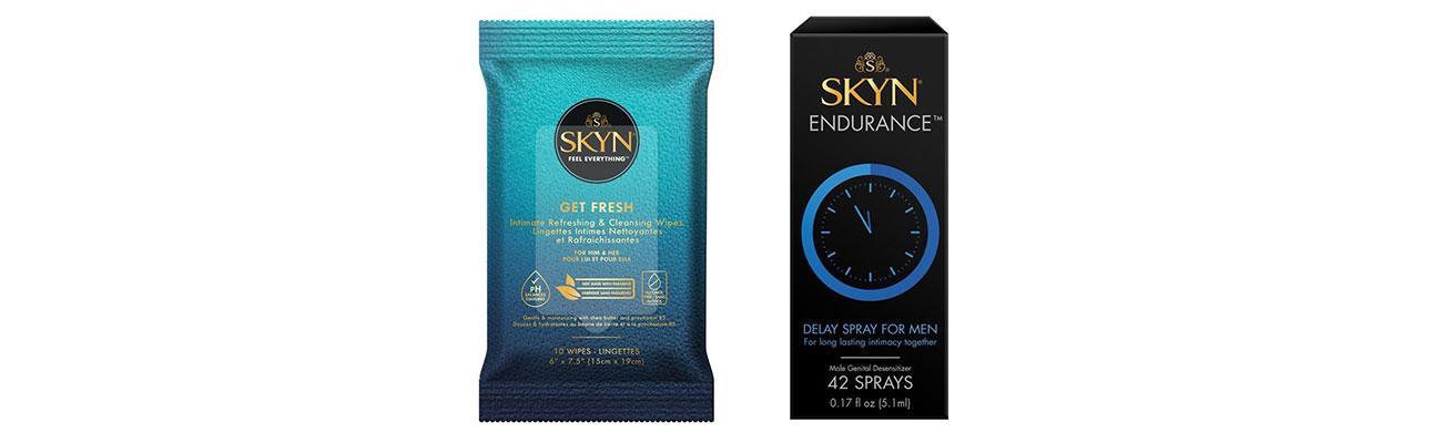 Skyn Get Fresh Wipes and Endurance delay spray