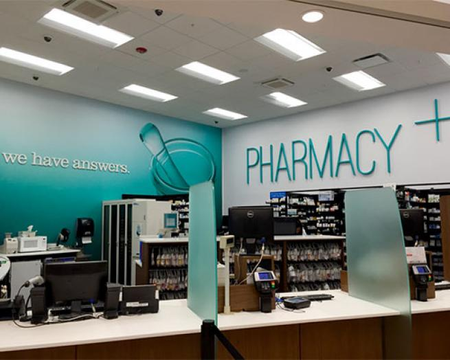 Market 32 pharmacy counter