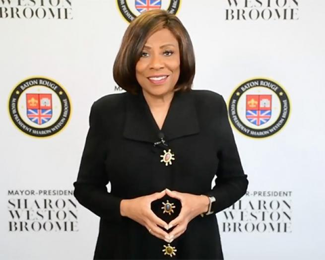Sharon Weston Broome posing for a picture