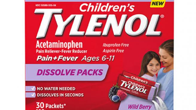 Children's Tylenol Dissolve Packs