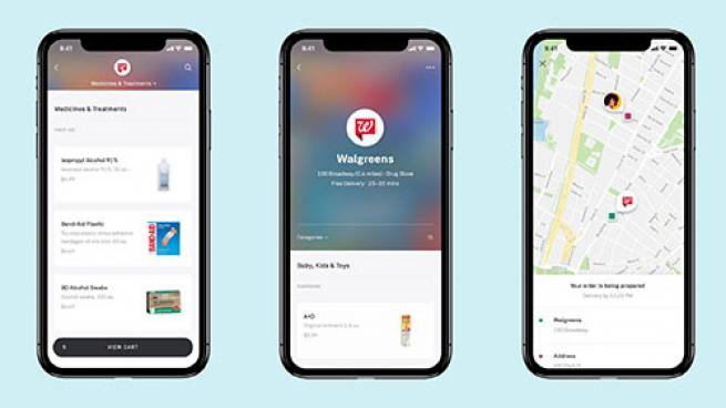 Walgreens delivery in the Postmates app