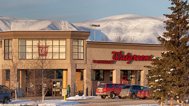 Walgreens storefront.