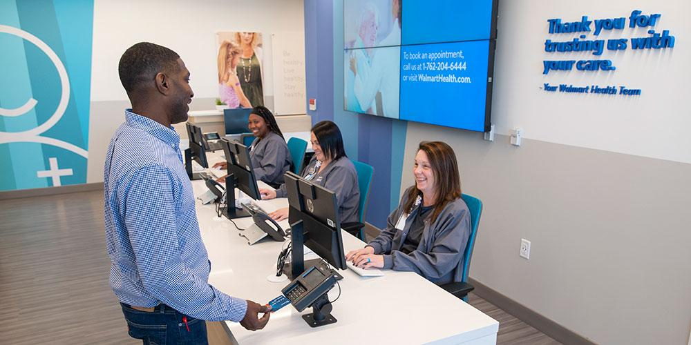 Walmart Health patient paying
