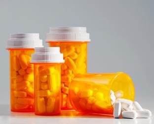Generic pill bottles.