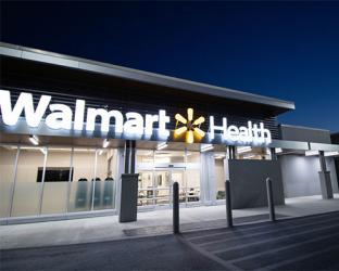 Walmart Health exterior.