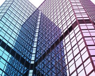 Two modern office buildings.