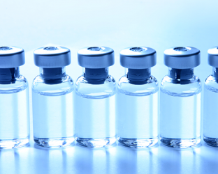 Vials containing injection.