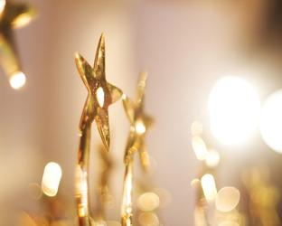 A gold star trophy