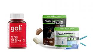 Goli apple cider vinegar gummies and VADE dissolvable protein